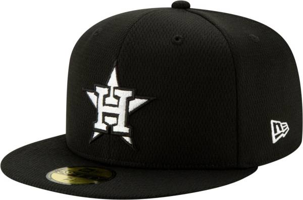 New Era Men's Houston Astros 59Fifty Black Batting Practice Fitted Hat product image