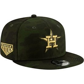 5cb8ff482253d7 New Era Men's Houston Astros 9Fifty Armed Forces Adjustable Snapback Hat