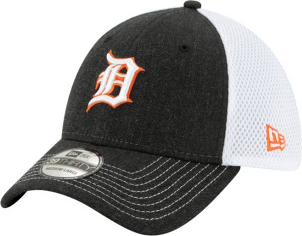 New Era Men's Detroit Tigers Black 39Thirty Heather Neo Stretch Fit Hat product image