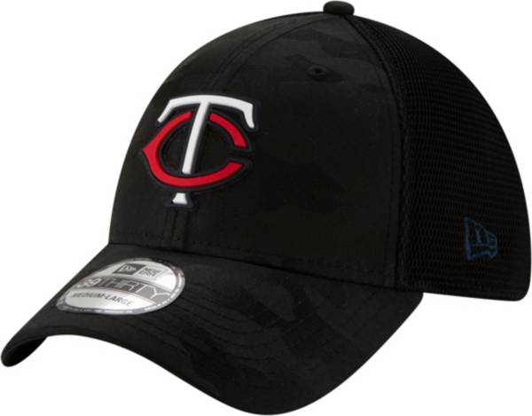 New Era Men's Minnesota Twins Black 39Thirty Clubhouse Camo Stretch Fit Hat product image