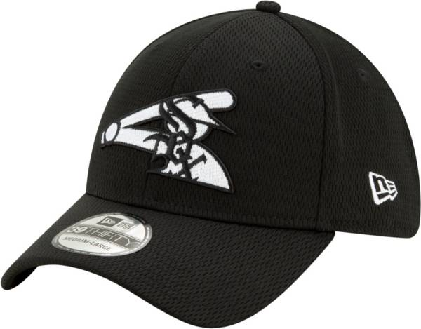 New Era Men's Chicago White Sox 39Thirty Black Batting Practice Stretch Fit Hat product image