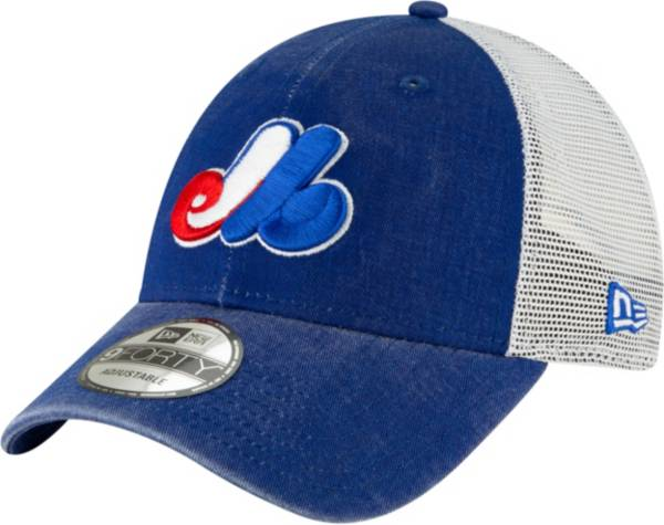 New Era Men's Montreal Expos 9Forty Cooperstown Trucker Adjustable Hat product image