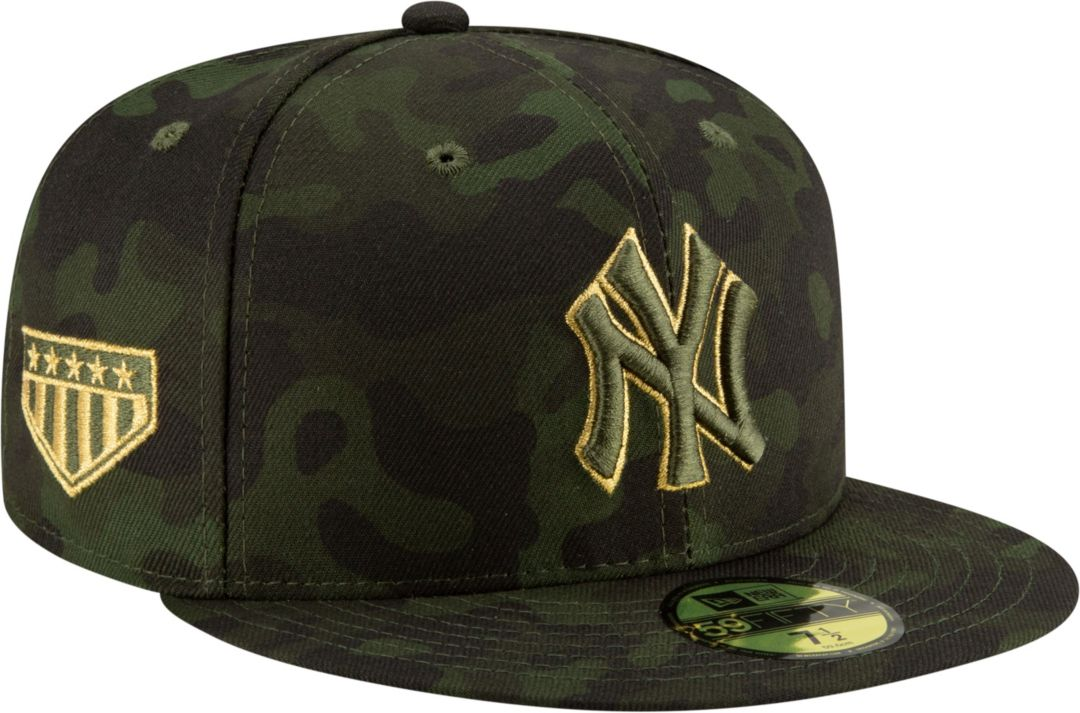 81d4ab40 New Era Men's New York Yankees 59Fifty Armed Forces Fitted Hat