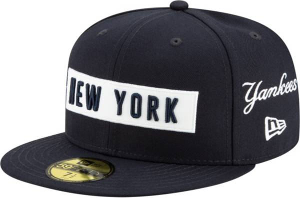 New Era Men's New York Yankees 59Fifty Navy Multi-logo Fitted Hat product image