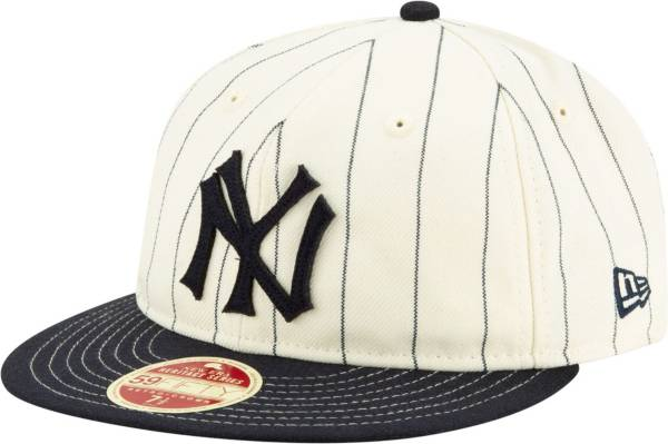 New Era Men's New York Yankees White 59Fifty Pinstripe Fitted Hat product image