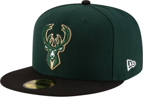 New Era Men's Milwaukee Bucks 59Fifty Authentic Hat product image