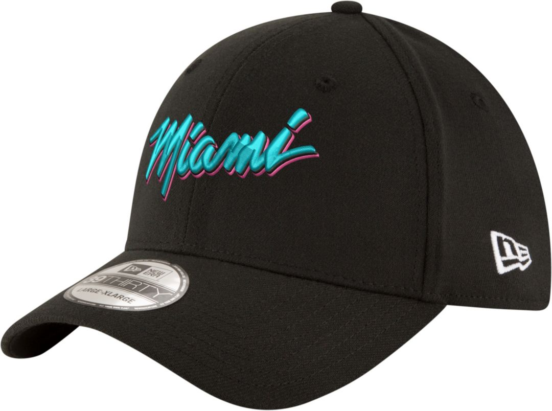 low priced ef4e8 f8274 New Era Men s Miami Heat 39Thirty City Edition Stretch Fit Hat.  noImageFound. Previous