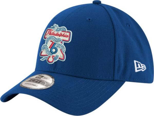 "New Era Men's Philadelphia 76ers 9Forty ""Phila Unite"" Royal Adjustable Hat product image"