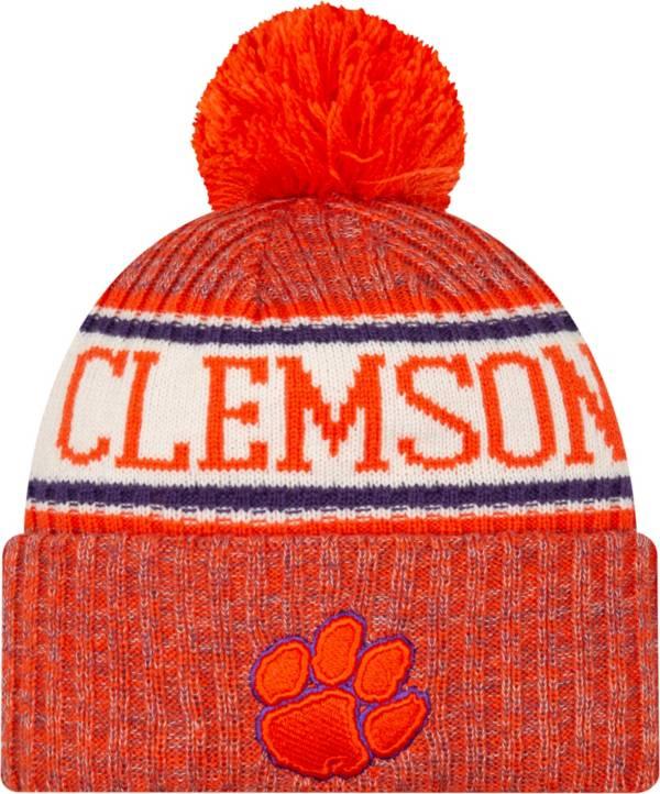 New Era Men's Clemson Tigers Orange Sport Knit Beanie product image