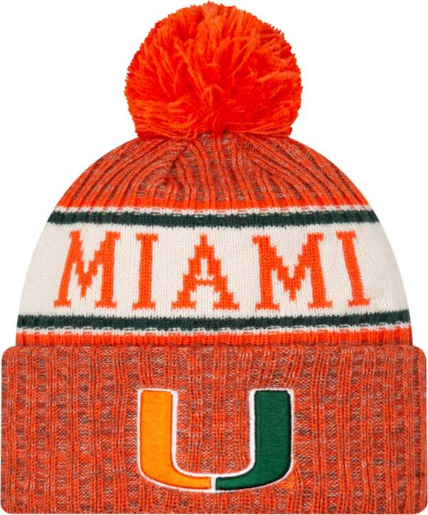New Era Men's Miami Hurricanes Orange Sport Knit Beanie product image