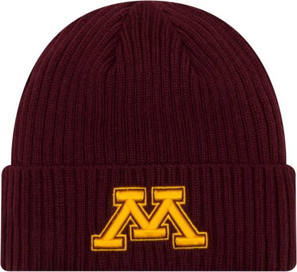 New Era Men's Minnesota Golden Gophers Maroon Cuffed Knit Beanie product image