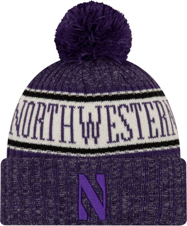 New Era Men's Northwestern Wildcats Purple Sport Knit Beanie product image