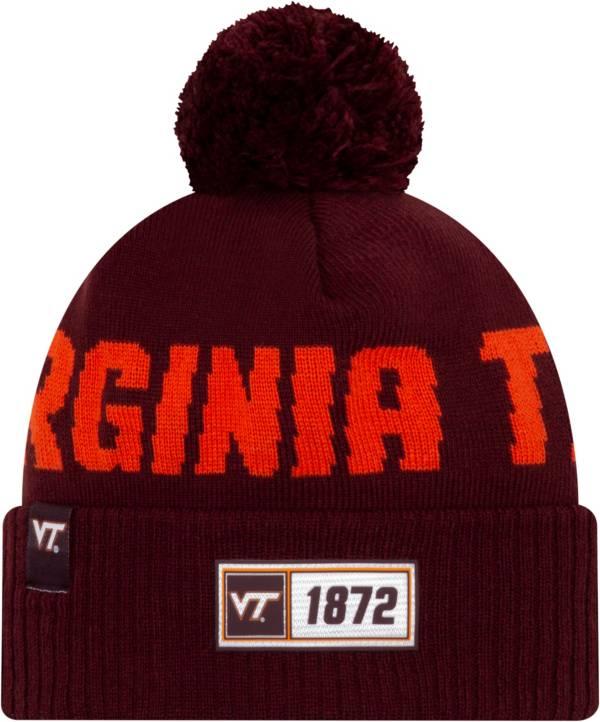 New Era Men's Virginia Tech Hokies Maroon Sideline Road Cuffed Knit Beanie product image