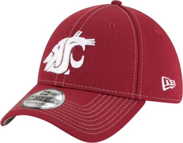 New Era Men's Washington State Cougars Crimson Sideline Road 39Thirty Stretch Fit Hat product image