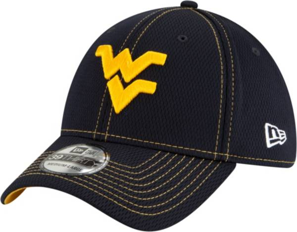New Era Men's West Virginia Mountaineers Blue Sideline Road 39Thirty Stretch Fit Hat product image