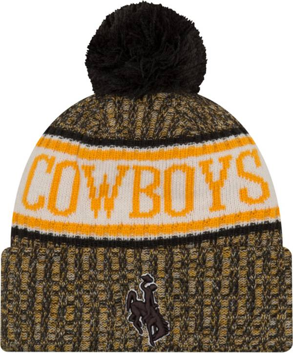 New Era Men's Wyoming Cowboys Brown Sport Knit Beanie product image