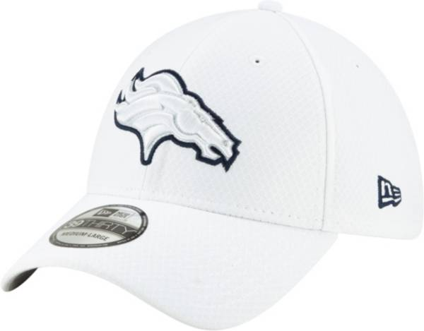 New Era Men's Denver Broncos Sideline 100th 39Thirty Stretch Fit White Hat product image