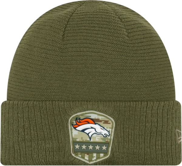 New Era Men's Salute to Service Denver Broncos Olive Cuffed Knit product image