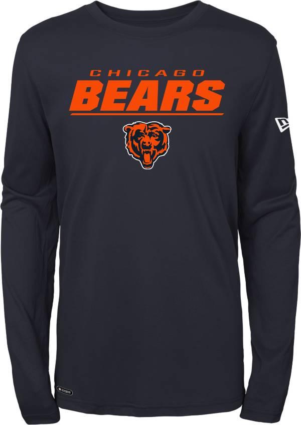 New Era Men's Chicago Bears Combine Navy Polyester Long Sleeve Shirt product image