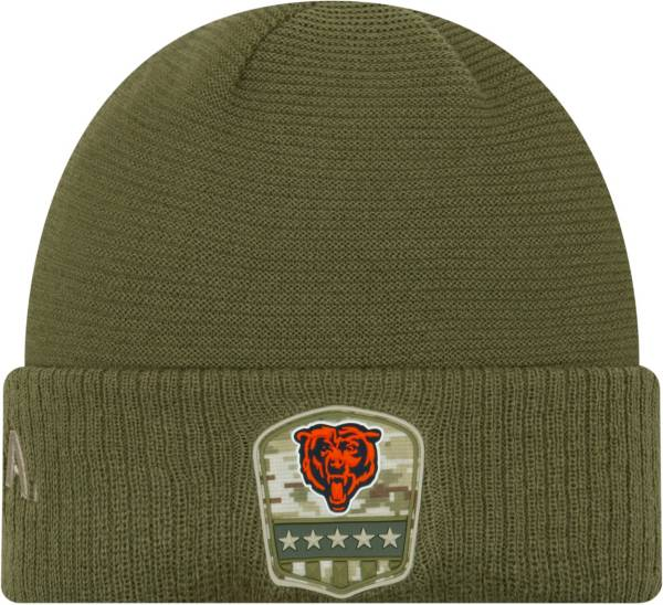 New Era Men's Salute to Service Chicago Bears Olive Cuffed Knit product image