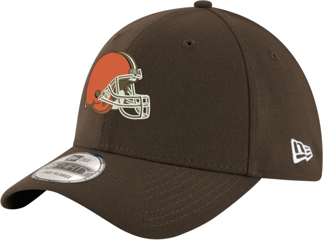 aaa94e1cab9239 New Era Men's Cleveland Browns Team Classic 39Thirty Brown Stretch Fit Hat.  noImageFound. Previous