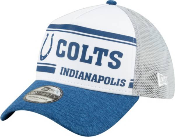 New Era Men's Indianapolis Colts Sideline 1970 Home 39Thirty Stretch Fit Hat product image