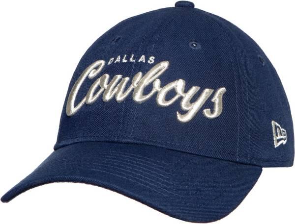 New Era Women's Dallas Cowboys Metallic Script 9Twenty Adjustable Navy Hat product image