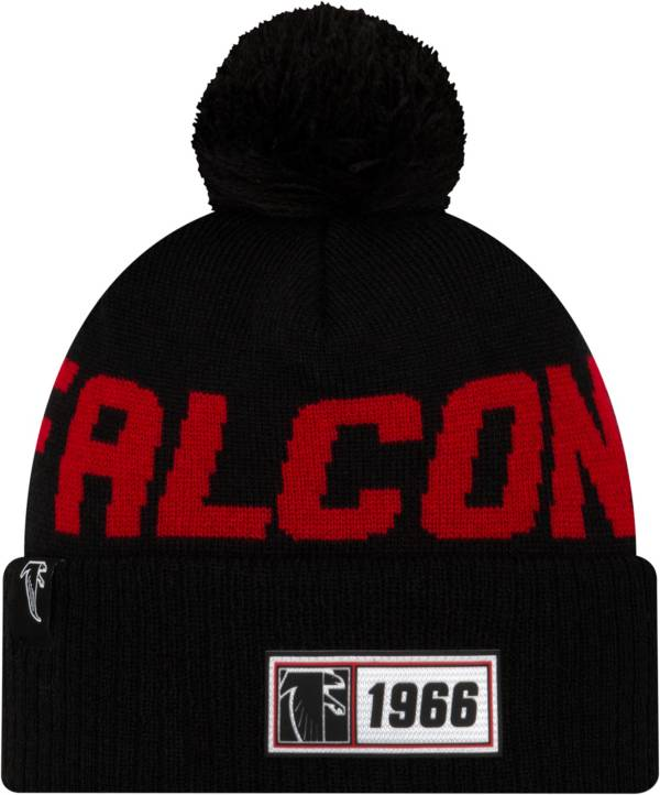 New Era Men's Atlanta Falcons Sideline Road Sport Pom Knit Hat product image