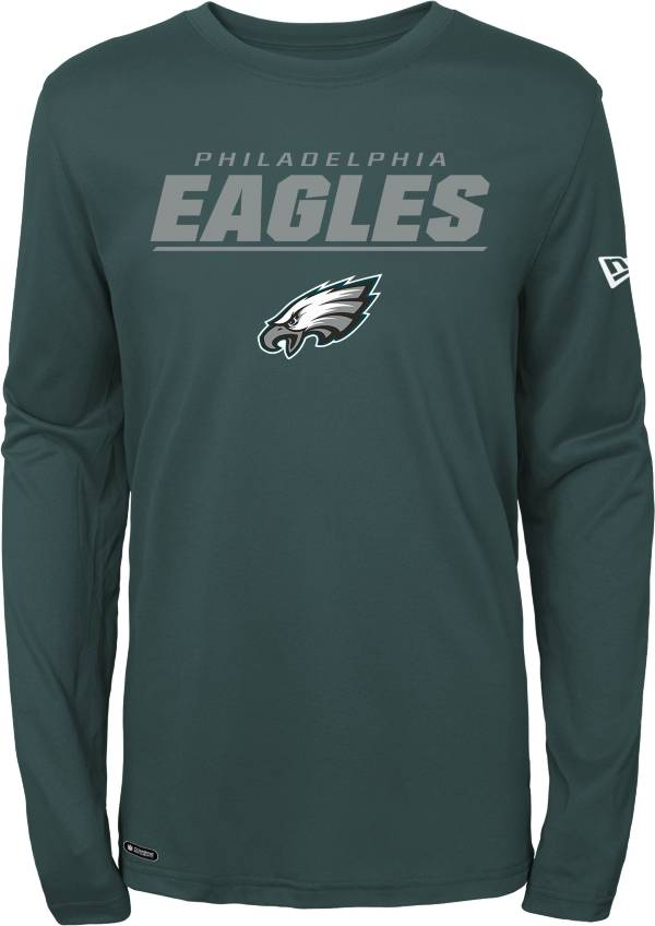 New Era Men's Philadelphia Eagles Combine Green Polyester Long Sleeve Shirt product image