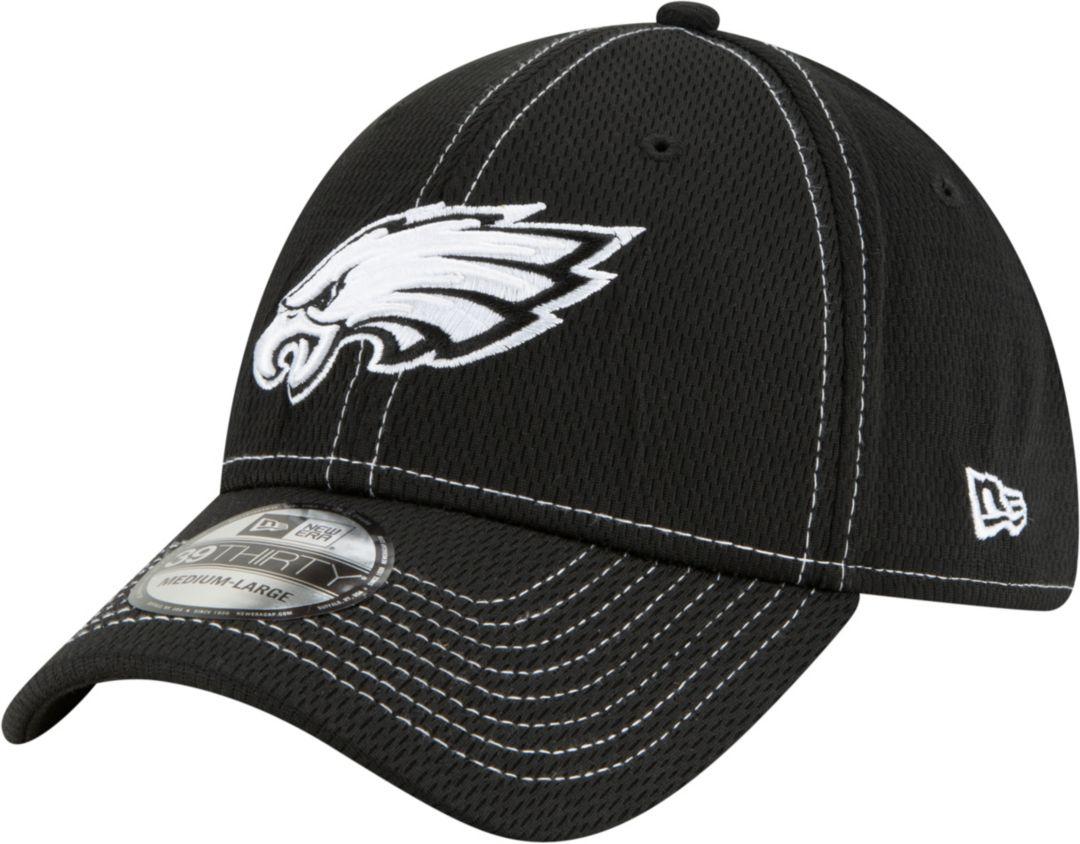 ed6486b5 New Era Men's Philadelphia Eagles Sideline Road 39Thirty Stretch Fit Black  Hat