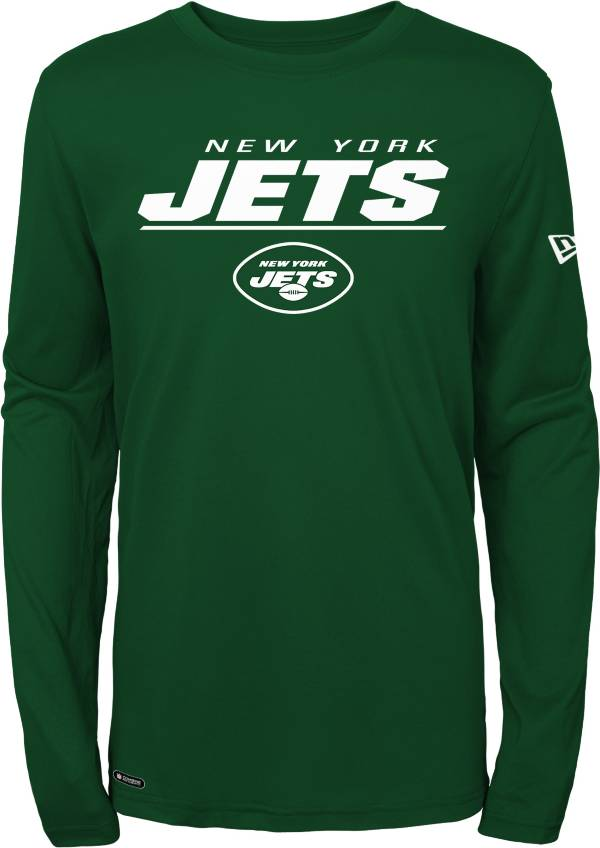 New Era Men's New York Jets Combine Green Polyester Long Sleeve Shirt product image