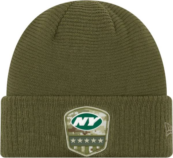 New Era Men's Salute to Service New York Jets Olive Cuffed Knit product image