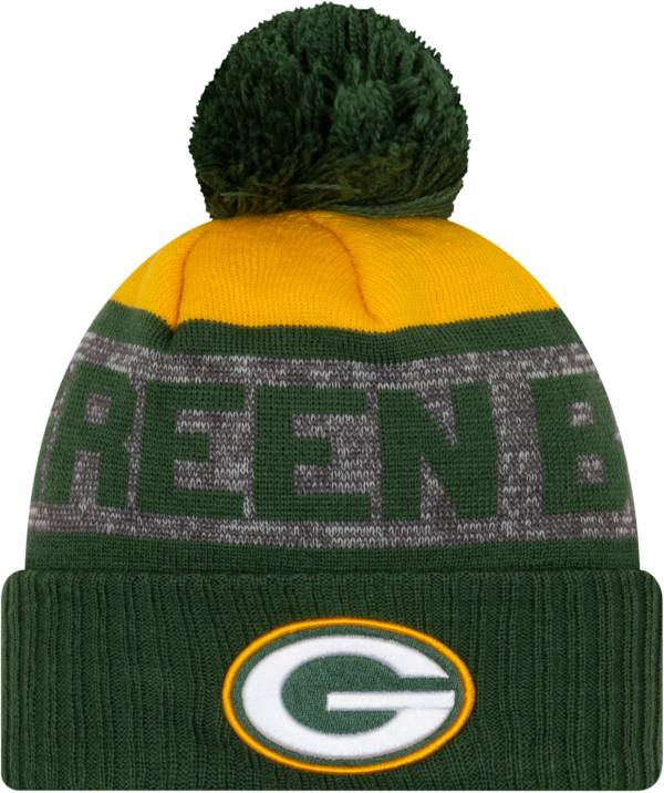 New Era Men's Green Bay Packers Green Pom Knit Hat product image