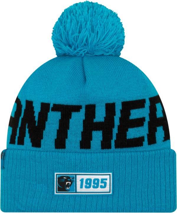 New Era Men's Carolina Panthers Sideline Road Sport Pom Knit product image