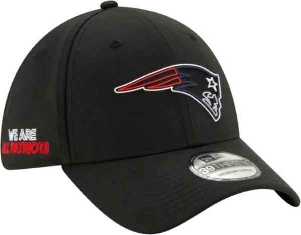 New Era Men's New England Patriots 2020 NFL Draft 39Thirty Stretch Fit Black Hat product image