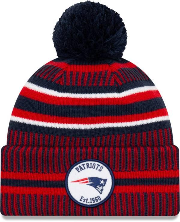 New Era Men's New England Patriots Sideline Home Sport Pom Knit Hat product image