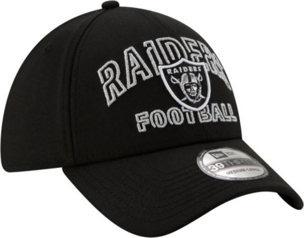 New Era Men's Las Vegas Raiders 2020 NFL Draft Alternate 39Thirty Stretch Fit Black Hat product image