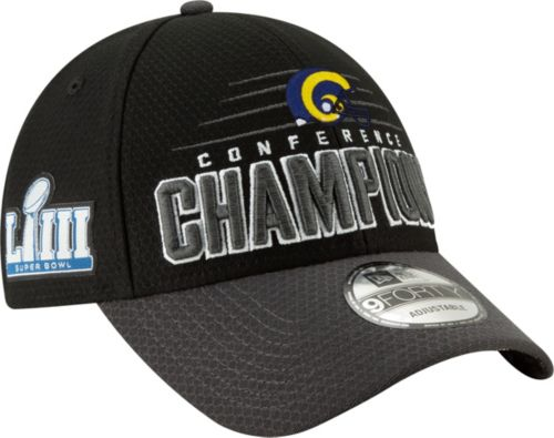 New Era Men s NFC Conference Champions Los Angeles Rams Locker Room 9Forty  Hat  299cdebc8ad4