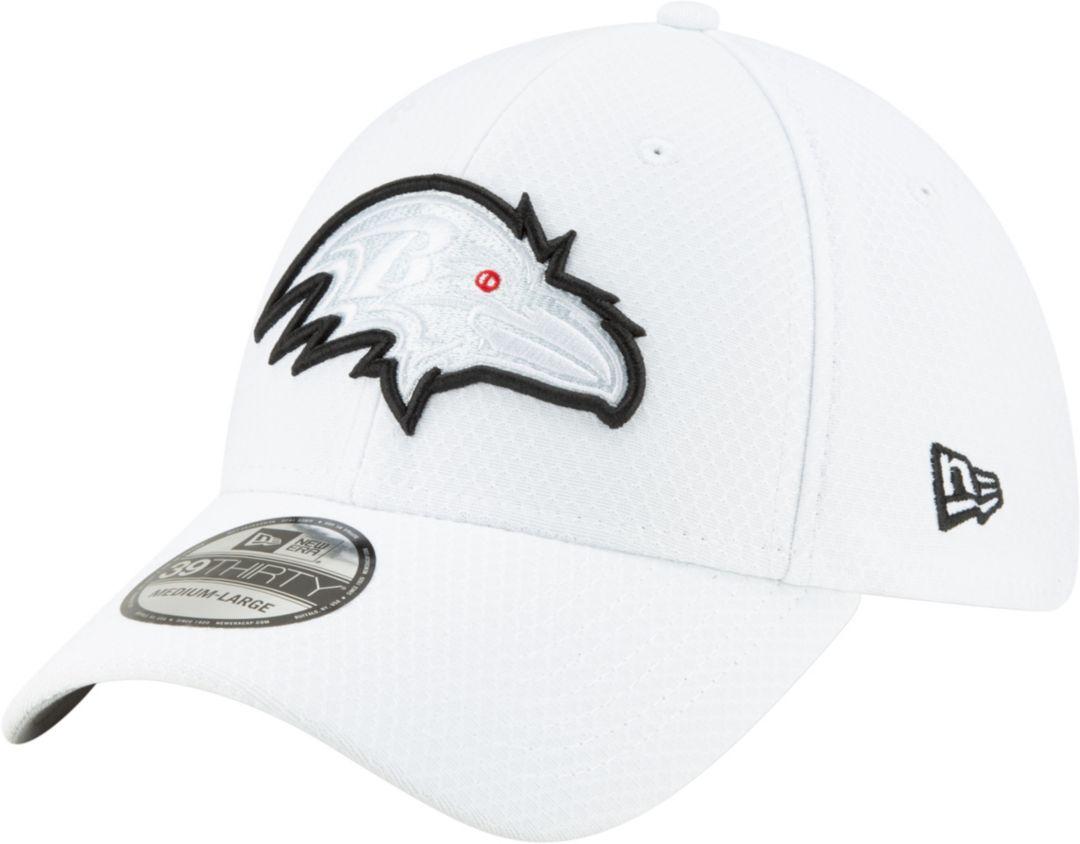 ab96652fb New Era Men's Baltimore Ravens Sideline 100th 39Thirty Stretch Fit White Hat