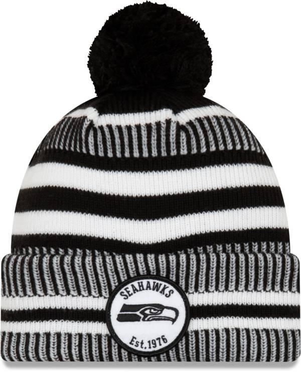 New Era Men's Seattle Seahawks Sideline Home Sport Pom Knit Hat product image