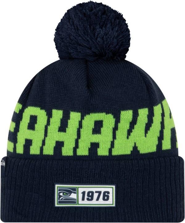 New Era Men's Seattle Seahawks Sideline Road Sport Pom Knit product image