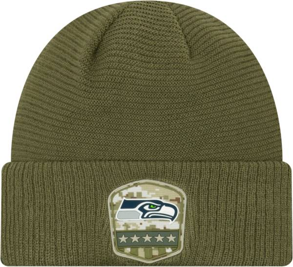 New Era Men's Salute to Service Seattle Seahawks Olive Cuffed Knit product image