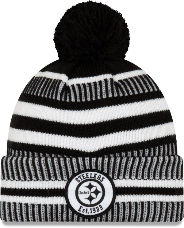 New Era Men's Pittsburgh Steelers Sideline Home Black Sports Knit product image