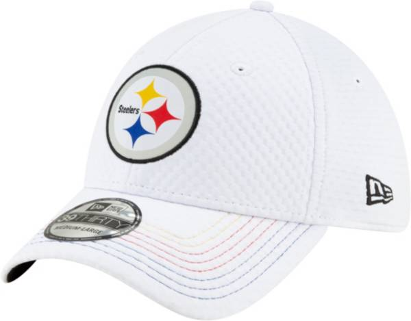 New Era Men's Pittsburgh Steelers JuJu #19 39Thirty White Stretch Fit Hat product image