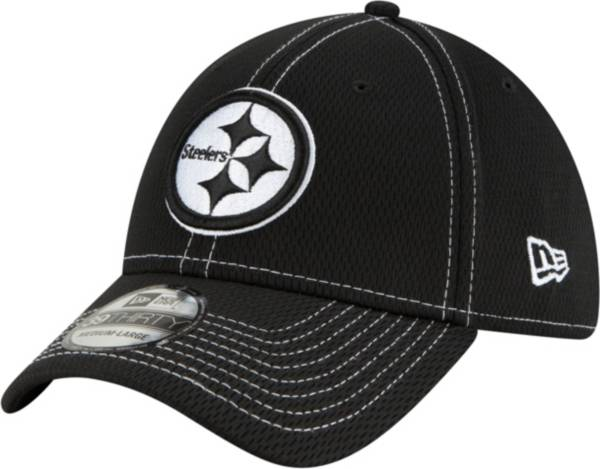 New Era Men's Pittsburgh Steelers Sideline Road 39Thirty Stretch Fit Black Hat product image