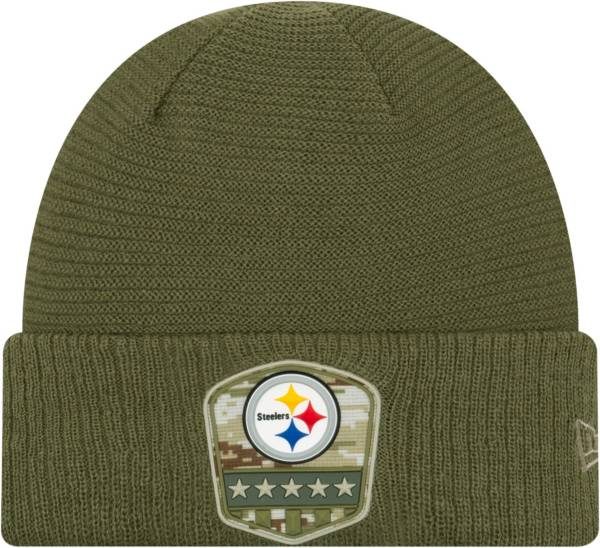 New Era Men's Salute to Service Pittsburgh Steelers Olive Cuffed Knit product image