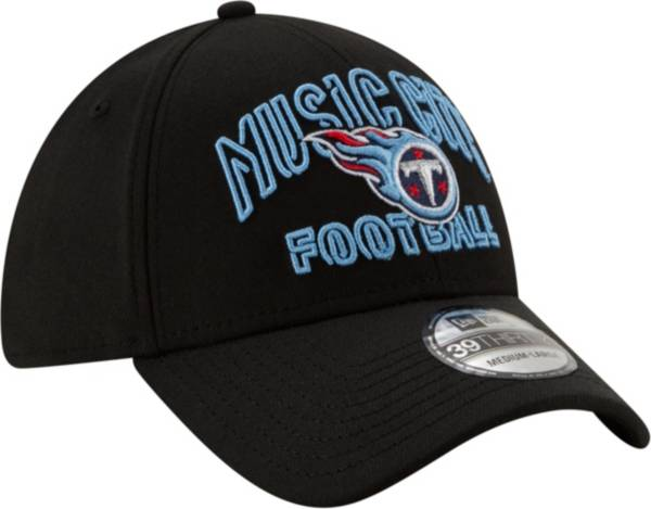 New Era Men's Tennessee Titans 2020 NFL Draft Alternate 39Thirty Stretch Fit Black Hat product image