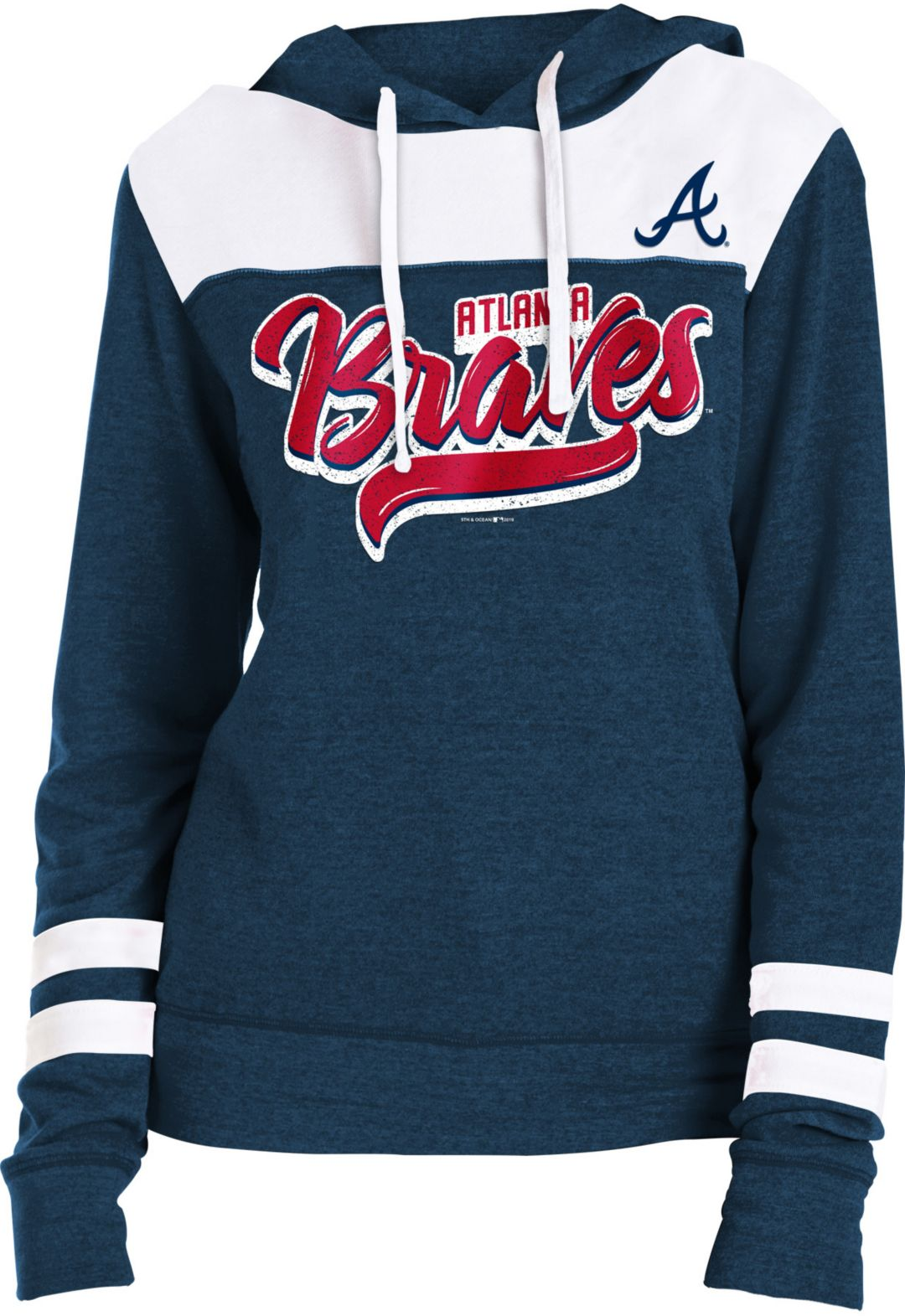 sports shoes f730a c9dec New Era Women's Atlanta Braves Tri-Blend Pullover Hoodie