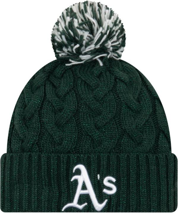 New Era Women's Oakland Athletics Cozy Cable Knit Hat product image
