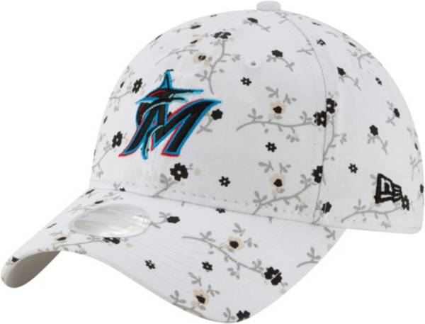 New Era Women's Miami Marlins White Blossom 9Twenty Adjustable Hat product image
